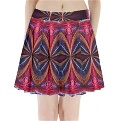3d Abstract Ring Pleated Mini Skirt