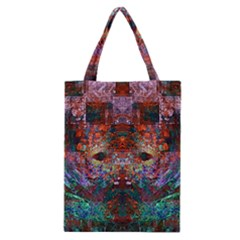 Modern Abstract Geometric Art Rainbow Colors Classic Tote Bag by CrypticFragmentsColors
