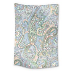 Paisley Boho Hippie Retro Fashion Print Pattern  Large Tapestry by CrypticFragmentsColors