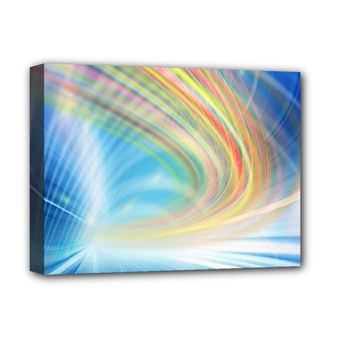 Glow Motion Lines Light Deluxe Canvas 16  X 12