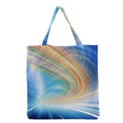 Glow Motion Lines Light Grocery Tote Bag by Alisyart