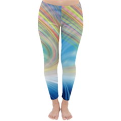 Glow Motion Lines Light Classic Winter Leggings