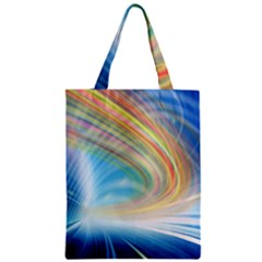 Glow Motion Lines Light Zipper Classic Tote Bag by Alisyart