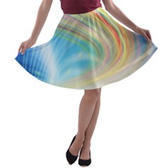 Glow Motion Lines Light A Line Skater Skirt