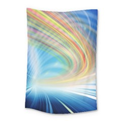 Glow Motion Lines Light Small Tapestry