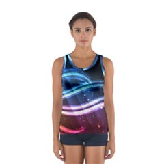 Illustrations Color Purple Blue Circle Space Women s Sport Tank Top  by Alisyart
