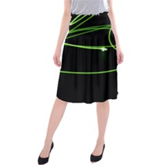 Light Line Green Black Midi Beach Skirt