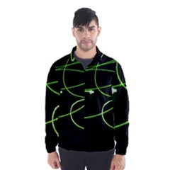 Light Line Green Black Wind Breaker (men)