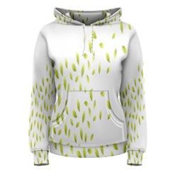 Leaves Leaf Green Fly Landing Women s Pullover Hoodie