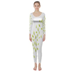 Leaves Leaf Green Fly Landing Long Sleeve Catsuit