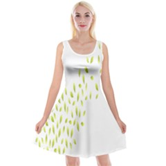 Leaves Leaf Green Fly Landing Reversible Velvet Sleeveless Dress