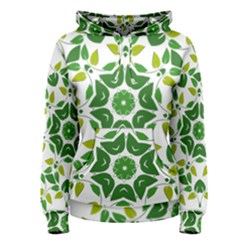 Leaf Green Frame Star Women s Pullover Hoodie