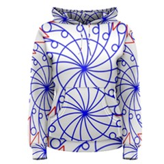 Line  Red Blue Circle Women s Pullover Hoodie