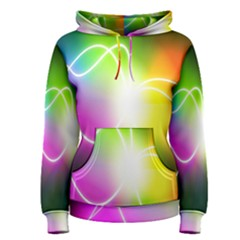 Lines Wavy Ight Color Rainbow Colorful Women s Pullover Hoodie