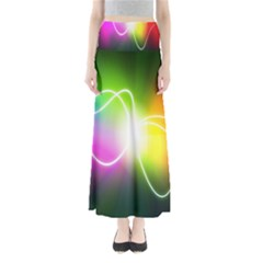 Lines Wavy Ight Color Rainbow Colorful Maxi Skirts