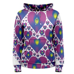 Heart Love Valentine Purple Gold Women s Pullover Hoodie