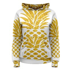 Pineapple Glitter Gold Yellow Fruit Women s Pullover Hoodie