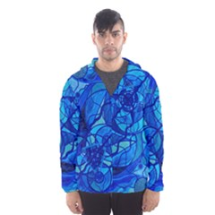 Arcturian Calming Grid   Hooded Wind Breaker (men)
