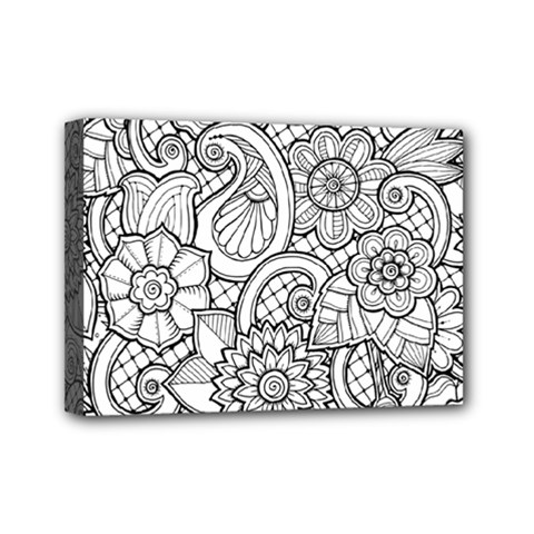 These Flowers Need Colour! Mini Canvas 7  X 5  by Simbadda
