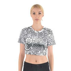 These Flowers Need Colour! Cotton Crop Top