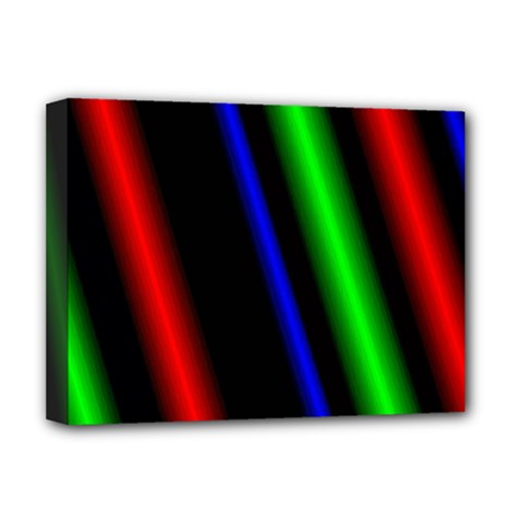 Multi Color Neon Background Deluxe Canvas 16  X 12   by Simbadda
