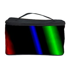Multi Color Neon Background Cosmetic Storage Case by Simbadda