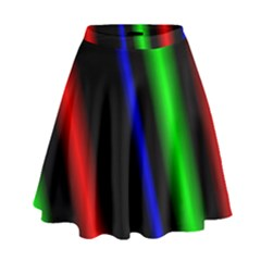 Multi Color Neon Background High Waist Skirt by Simbadda