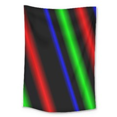 Multi Color Neon Background Large Tapestry by Simbadda