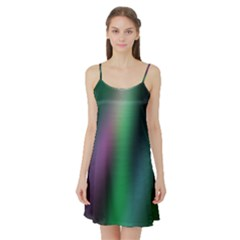 Course Gradient Color Pattern Satin Night Slip