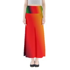 Multi Color Pattern Background Maxi Skirts