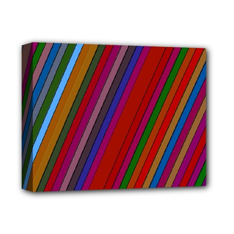 Color Stripes Pattern Deluxe Canvas 14  X 11  by Simbadda