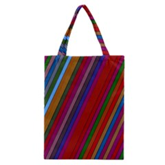 Color Stripes Pattern Classic Tote Bag