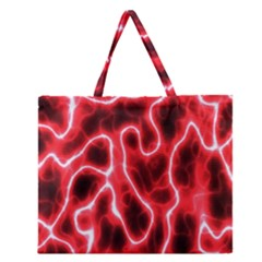 Pattern Background Abstract Zipper Large Tote Bag