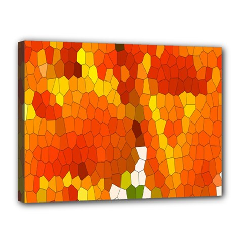 Mosaic Glass Colorful Color Canvas 16  X 12  by Simbadda