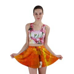 Mosaic Glass Colorful Color Mini Skirt