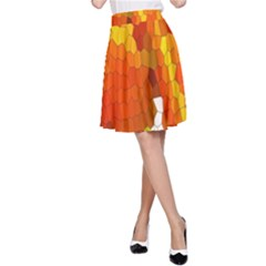 Mosaic Glass Colorful Color A Line Skirt by Simbadda