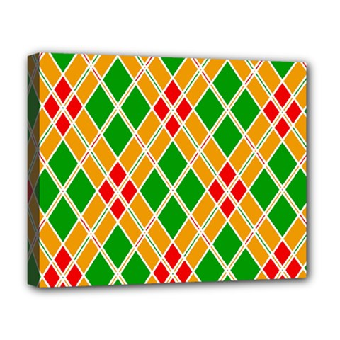 Colorful Color Pattern Diamonds Deluxe Canvas 20  X 16   by Simbadda