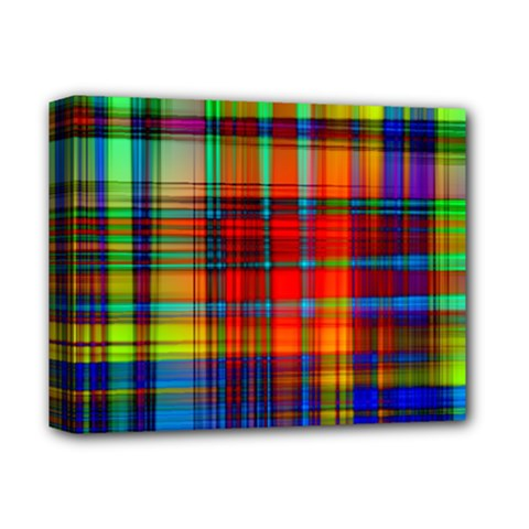 Abstract Color Background Form Deluxe Canvas 14  X 11  by Simbadda