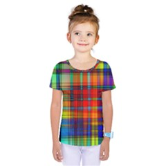 Abstract Color Background Form Kids  One Piece Tee by Simbadda