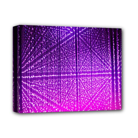 Pattern Light Color Structure Deluxe Canvas 14  X 11  by Simbadda