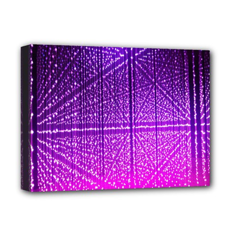 Pattern Light Color Structure Deluxe Canvas 16  X 12