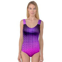 Pattern Light Color Structure Princess Tank Leotard  by Simbadda