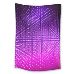 Pattern Light Color Structure Large Tapestry by Simbadda