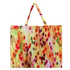 Background Color Pattern Abstract Zipper Large Tote Bag by Simbadda