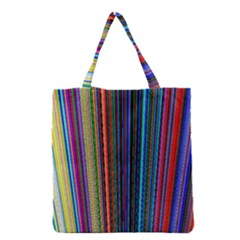 Multi Colored Lines Grocery Tote Bag