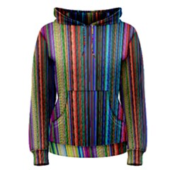 Multi Colored Lines Women s Pullover Hoodie by Simbadda
