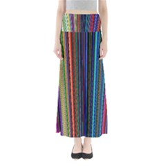 Multi Colored Lines Maxi Skirts