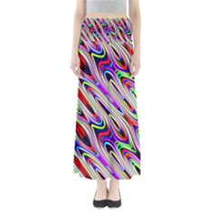 Multi Color Wave Abstract Pattern Maxi Skirts