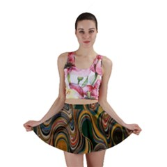 Swirl Colour Design Color Texture Mini Skirt by Simbadda
