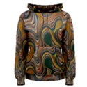 Swirl Colour Design Color Texture Women s Pullover Hoodie View1